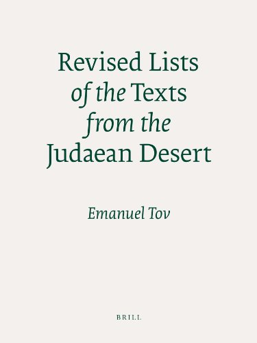 9789004179493: Revised Lists of the Texts from the Judaean Desert