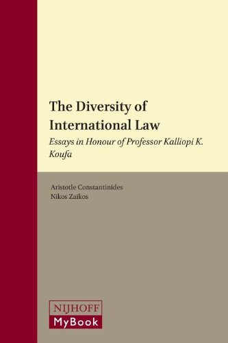 the diversity of international law essays in honour of professor the diversity of international law essays in honour of professor kalliopi k koufa