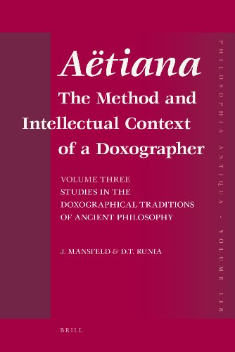 Aetiana: Volume III: The Method and Intellectual: Jaap Mansfeld, David