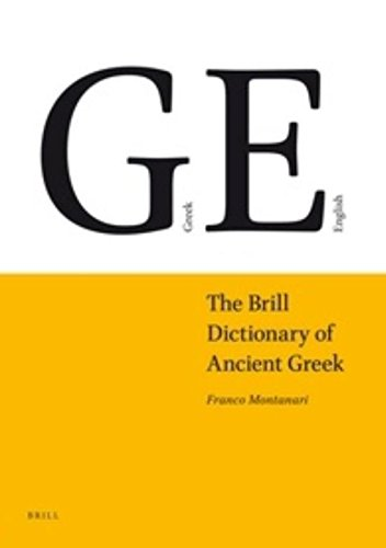 Vocabolario Della Lingua Greca: Montanari, Franco