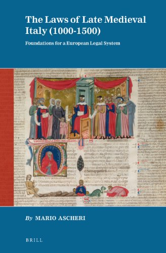 9789004211865: The Laws of Late Medieval Italy (1000-1500)