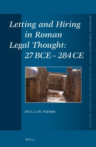 Letting and Hiring in Roman Legal Thought: Du Plessis, Paul