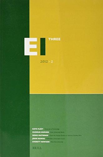9789004225442: Encyclopaedia of Islam - Three 2012-2