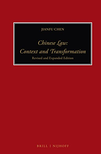 9789004228863: Chinese Law: Context and Transformation