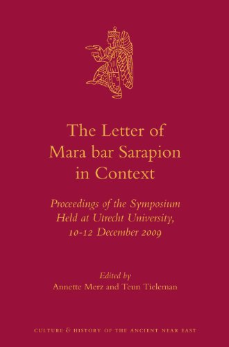 Letter of Mara bar Sarapion in Context: A. Merz, T.
