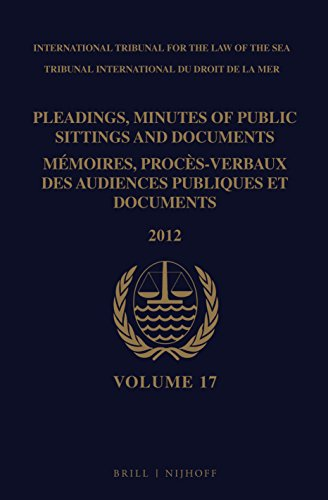 Pleadings, Minutes of Public Sittings and Documents: PLEADINGS, MINUTES OF