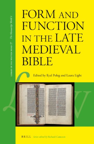 9789004248885: Form and Function in the Late Medieval Bible (Library of the Written Word)