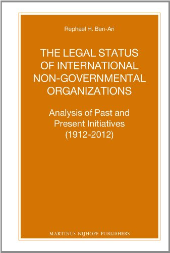 9789004254367: The Legal Status of International Non-Governmental Organizations (Nijhoff Law Specials)