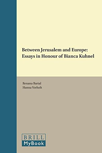 9789004254695: Between Jerusalem and Europe: Essays in Honour of Bianca Kühnel (Visualising the Middle Ages)