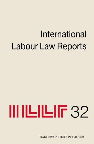 International Labour Law Reports, Volume 32 (Hardback)