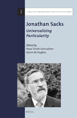 9789004257214: Jonathan Sacks: Universalizing Particularity (Library of Contemporary Jewish Philosophers)