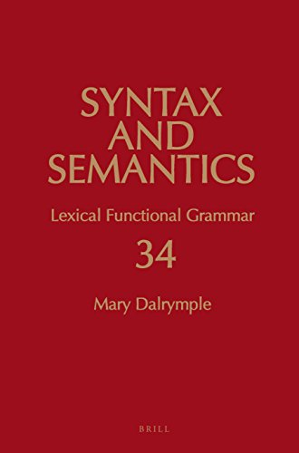 9789004257320: Lexical Functional Grammar (Syntax and Semantics)