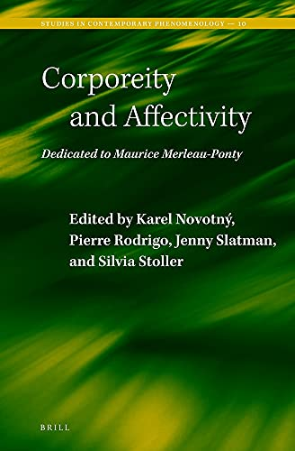 9789004261334: Corporeity and Affectivity: Dedicated to Maurice Merleau-Ponty (Studies in Contemporary Phenomenology)