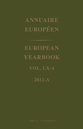 European Yearbook / Annuaire Europeen, Volume 60A (2012) (Hardback)