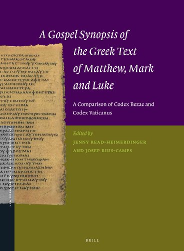 9789004262133: A Gospel Synopsis of the Greek Text of Matthew, Mark and Luke: A Comparison of Codex Bezae and Codex Vaticanus (New Testament Tools, Studies and Documents)