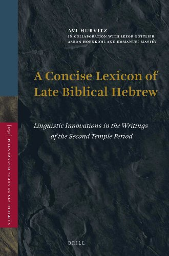 9789004266117: A Concise Lexicon of Late Biblical Hebrew: Linguistic Innovations in the Writings of the Second Temple Period (Vetus Testamentum, Supplements)