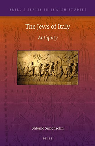 9789004282353: The Jews of Italy: Antiquity (Brill's Series in Jewish Studies)