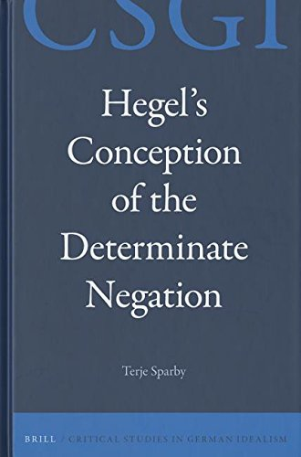 9789004284609: Hegel's Conception of the Determinate Negation (Critical Studies in German Idealism)