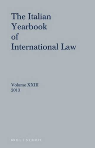 Italian Yearbook of International Law 23 (2013)