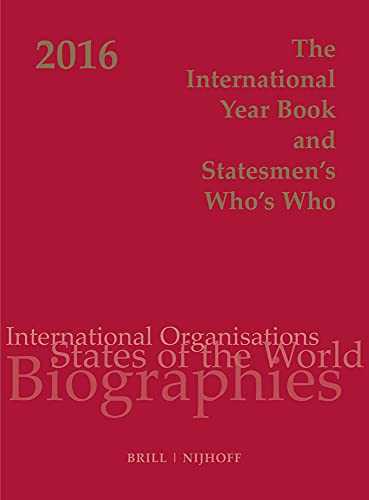 9789004289246: The International Year Book and Statesmen's Who's Who 2016