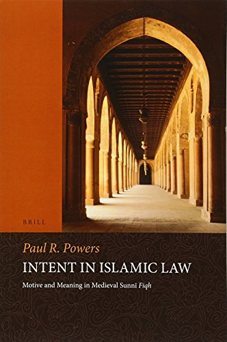 Intent in Islamic Law: Motive and Meaning in Medieval Sunni Fiqh (Paperback): Paul Powers
