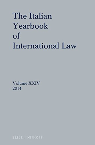The Italian Yearbook of International Law; Volume: Brill