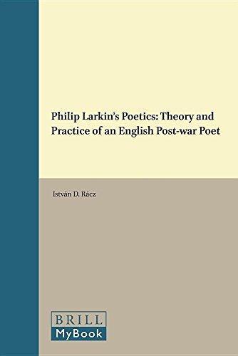 9789004311060: Philip Larkins Poetics (Costerus New Series)