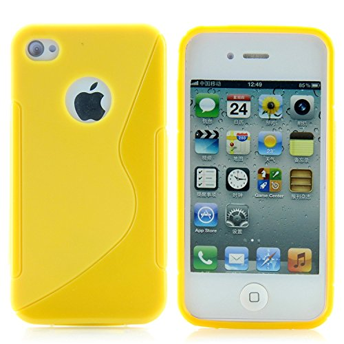 9789008459317: SK MICRO® SILICONE GEL S LINE CASE COVER FOR IPHONE (iphone 4/4s, Yellow)