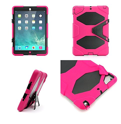 9789008462058: SK MICRO® New PINK High Quality Heavy Duty Builder case Kid's iPad case for Apple iPad AIR 2 With Stylus (A Perfect Match For The Safety Of Your iPad - Top list for Kid-Friendly case)
