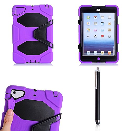 9789008462096: SK MICRO® New PURPLE High Quality Heavy Duty Survivor Military Rugged Tough Shock Proof Case Stand Cover For Apple iPad Mini / Mini 1/2/3rd Generation With Mini Stylus Pen + Built In Screen Guard