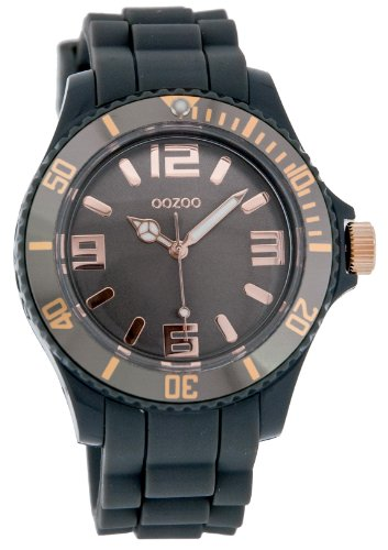 9789012474184: Oozoo Unisex Fashion Watch Grey/Rose Gold C4370