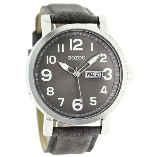 9789012474863: Oozoo - C4462 Grey - Montre Femme - Quartz Analogique - Bracelet Cuir Gris