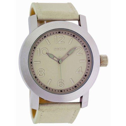 9789012475044: Oozoo - C4480 Beige - Montre Femme - Quartz Analogique - Bracelet Cuir Beige