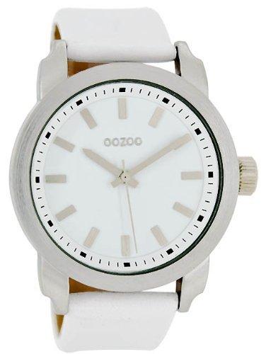 9789012477840: Oozoo XXL Montre pour Femme par Reliure en Cuir - C4770 - Blanc