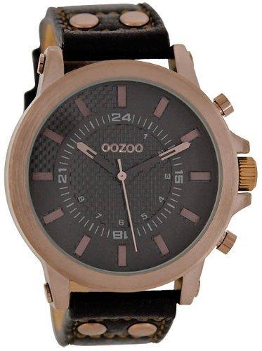 9789012482486: Oozoo C5219 - Reloj para hombres, correa de cuero color negro