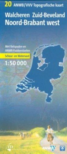 9789018023591: Topografische Fietskaart 20 Walcheren 1 : 50 000