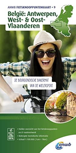 9789018042240: Antwerp, West- & East- Flanders bicycle junction maps (ANWB Fietsknooppuntenkaart (9))