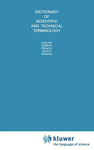 9789020116670: Dictionary of Scientific and Technical Terminology: English German French Dutch Russian