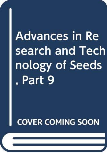 9789022008614: Advances in Research and Technology of Seeds, Part 9