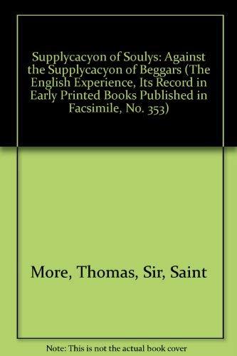 Supplycacyon of Soulys: More, Sir Thomas