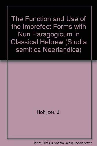 The Function and Use of the Imperfect: J. Hoftuzer