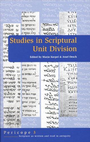 Studies in Scriptural Unit Division (Hardback)