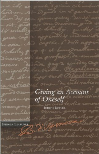9789023239406: Giving an account of oneself: a critique of ethical violence (Spinoza lectures)