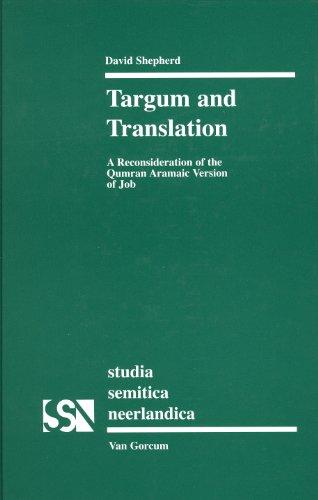 9789023240174: TARGUM AND TRANSLATION (Studia Semitica Neerlandica)