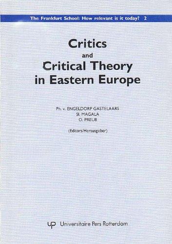Critics and critical theory in Eastern Europe.: Engeldorp Gastelaars, Ph. van, Sl. Magala, O. Preuß...