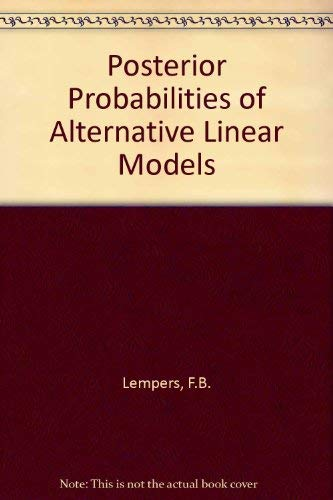 9789023722335: Posterior Probabilities of Alternative Linear Models