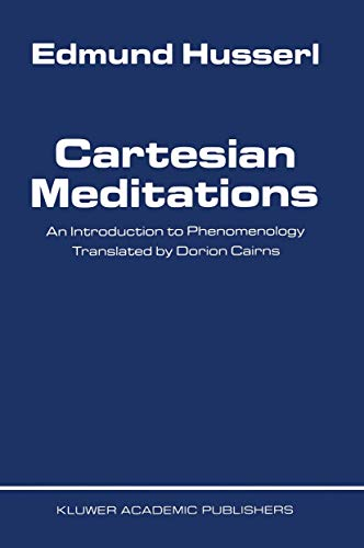 9789024700684: Cartesian Meditations: An Introduction to Phenomenology