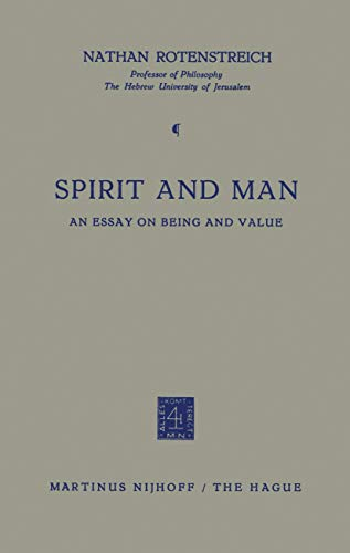 9789024701278: Spirit and Man: An Essay on Being and Value
