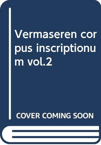 9789024701605: Vermaseren corpus inscriptionum vol.2