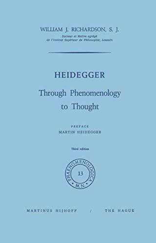 9789024702466: Heidegger: Through Phenomenology to Thought (Phaenomenologica)